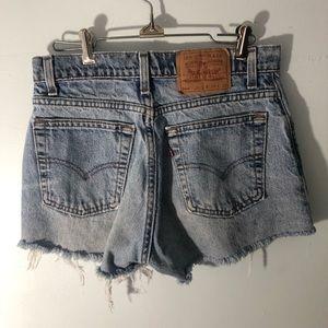 Vintage Levi's 560 Light Wash Cut Off Jean Shorts